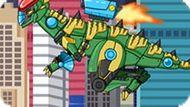 Игра Роботы Динозавры: Собирать Стегоцераса