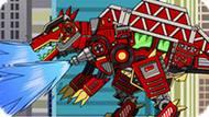 Игра Роботы Динозавры: Спинозавр Пожарный