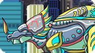 Игра Роботы Динозавры: Стиракозавр
