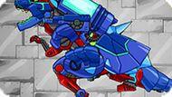 Игра Роботы Динозавры: Тиранозавр И Трицератопс Комбо