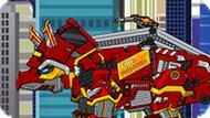 Игра Роботы Динозавры: Трицератопс Пожарный