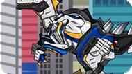 Игра Роботы Динозавры: Велоцираптор Полицейский