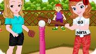 Игра София И Эмбер Играют В Бейсбол