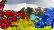 Игра Большая Схватка Роботов Динозавров 2