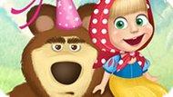 Игра Веселая Одевалка Маши И Медведя