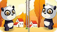 Игра Волейбол: Панда И Яйца