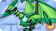 Игра Динороботы: Зеленый Птеродактиль