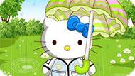 Игра Дождливый День Хелло Китти