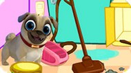 Игра Дружные Мопсы: Уборка На Кухне
