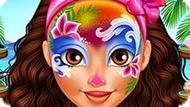 Игра Фейс-Арт Для Принцессы Моаны
