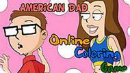 Игра Американский Папаша: Онлайн Раскраска