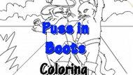 Игра Кот В Сапогах: Раскраска / Puss In Boots Coloring