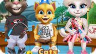 Игра Коты Идут На Рыбалку / Cats Go Fishing