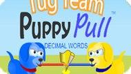 Игра Буксирная Команда: Щенок Вытягивает Десятичные Слова / Tug Team Puppy Pull Decimal Words