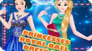 Игра Принцессы Одеваются На Королевский Бал / Princesses Royal Ball Dress Up