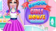 Игра Студентки: Уборка / Highschool Girls House Cleaning