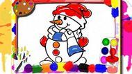 Игра Зимняя Книжка-Раскраска / Winter Coloring Book