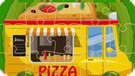 Игра Пазл: Грузовик С Пиццей / Pizza Trucks Jigsaw