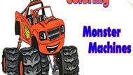 Игра Раскрась Машины Монстры / Coloring Monster Machines