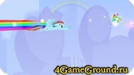 Jumping game with the Rainbow Pony