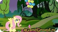 Shoot the marbles with Fluttershys Pony