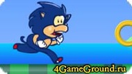 Running game about unusual Sonic