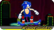 Race Sonic on the skateboard