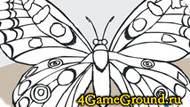 Раскраска про Бабочку