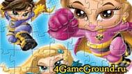 Bratz puzzle with superheroes Game