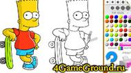 Coloring Bart Simpson