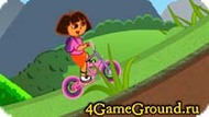 Riding a bike with Dora Game