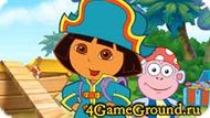 Dora on the pirate ship Game