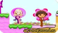 Game about Dora and Barbie