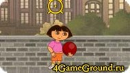 Dora playing with a ball Game