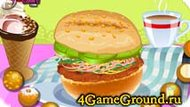 Cooking in a fast-food Game