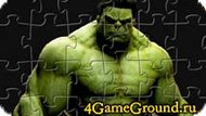 Collect puzzle with Hulk Game