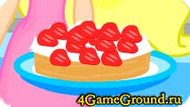 Prepare strawberry cake Game