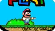 Mario with gun