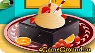 Cooking Ice cream with nuts Game