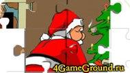 Пазл про Деда Мороза