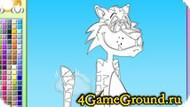 Раскраска про Веселого Тигра