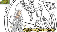 Раскраска про Принцессу и ее сказочного Дракона!