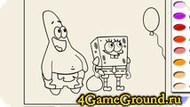Spongebob raskraska