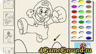 Super Mario raskraska