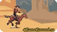 Race on the horse like a cowboy