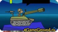 Стреляем по зомби из танка