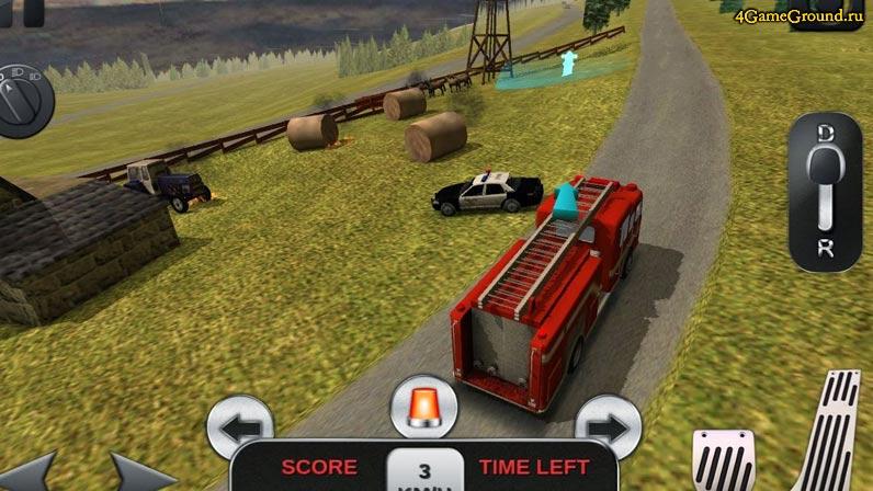 Игры пожарные - гонка на пожарной машине