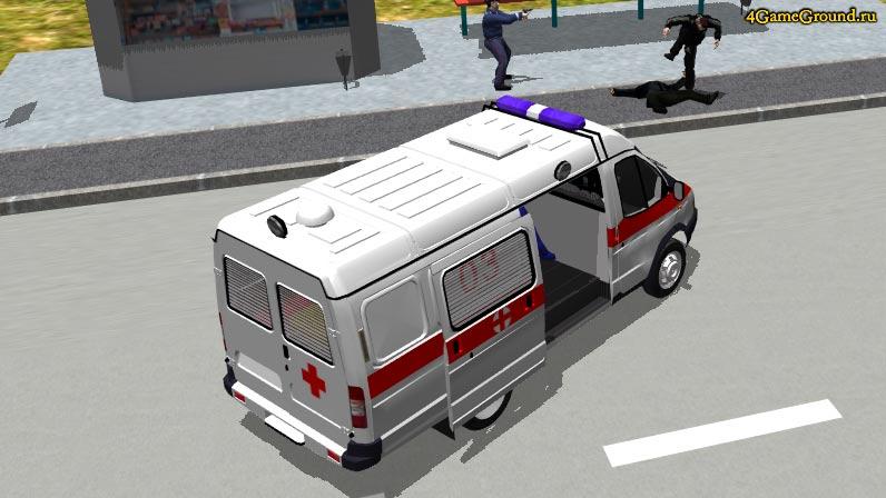 Игры Скорая Помощь - гонки в 3D