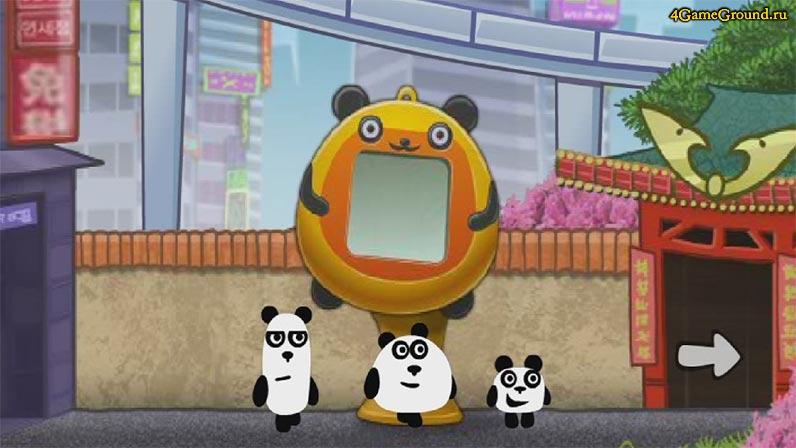 Игры 3 панды